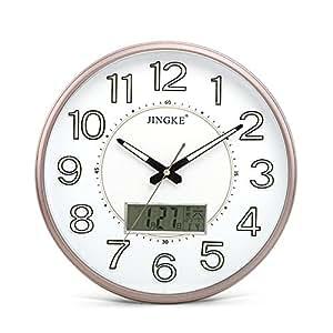 Amazon Com Imoerjia Clocks Wall Clock Living Room Night