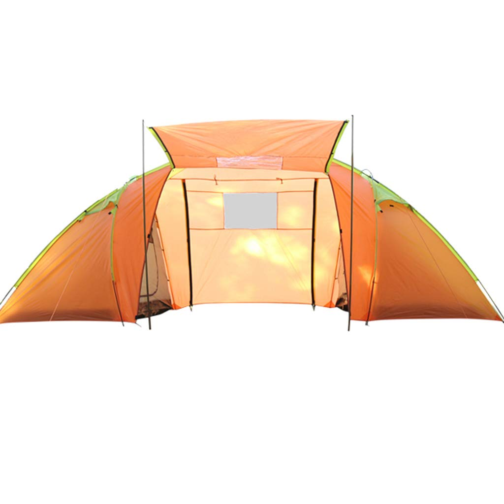 YaNanHome Doppeltes windundurchlässiges regendichtes Zelt Zelt des Zeltes 3-4 Leute Wildes kampierendes Zeltbergsteigenzelt (Farbe : Orange, Größe : 480  210  200cm)