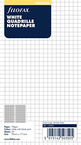 Filofax Personal White Quadrille Notepaper ()