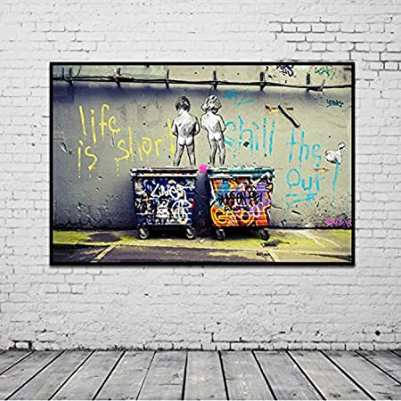 taoyuemaoyi Graffiti Arte Lienzo Abstracto Pintura Carteles ...