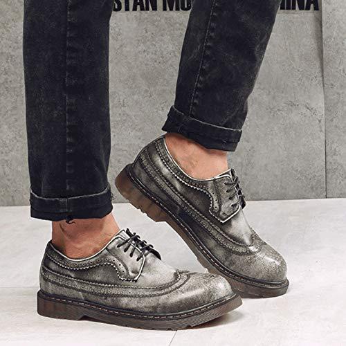 Punk Scarpe Nero EU Nero Stringate Style Uomo Gray 40 UrBCw5Uqx