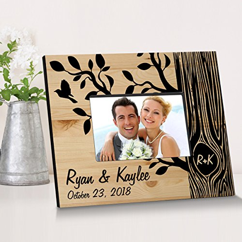 Personalized Tree of Love Wooden Picture Frame (Photo Wooden Personalized)
