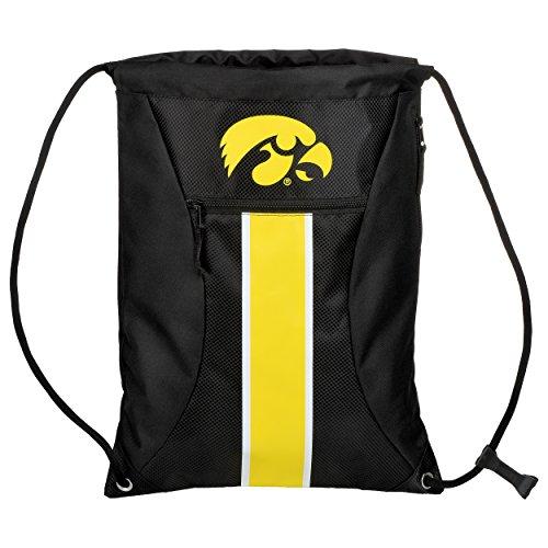 (Iowa Big Stripe Zipper Drawstring Backpack)