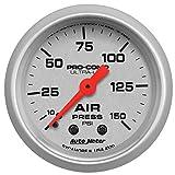 "Auto Meter 4320 Ultra-Lite 2-1/16"" 0-150 PSI Mechanical Air Pressure Gauge"