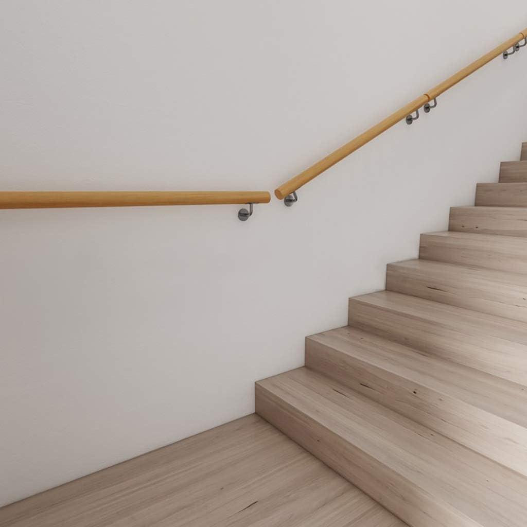 Size : 50cm contre le mur Loft Rampes Personnes /âg/ées int/érieur Couloir Statif Non-Slip bois descalier Main courante longueur 50cm Kit complet 600cm 16LYP Main courante