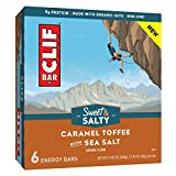 CLIF Bar Sweet & Salty Caramel Toffee with Sea Salt Flavored Energy Bars 14.4oz, pack of 1