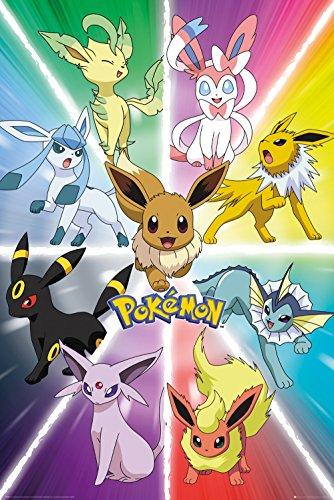 Pokemon- Eevee Evolution Poster 24 x 36in