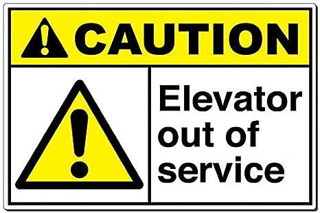 Amazon.com: Precaución: precaución señal ascensor fuera de ...
