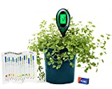 4 in 1 Soil Moisture Meter PH/Moisture/Temperature/Sunlight Tester Indoor/Outdoor Gardening Tool Kit For Plants With Battery By Hoptopper