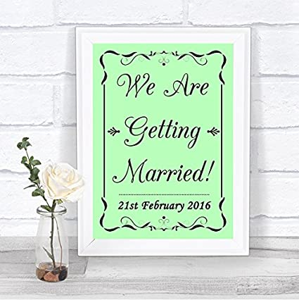 Amazon com : Green Save The Date Getting Married