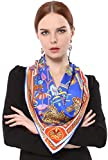 Grace Scarves 100% Silk Scarf With Hand Rolled Edges, Large, Fairy Land, Royal Blue & Red