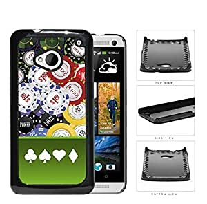 Casino Gambling Poker Chips Hard Plastic Snap On Cell Phone Case HTC One M7
