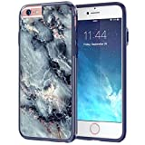 """iPhone 6 6s Case, True Color® Grayish Blue Marble [Stone Texture Collection] Slim Hybrid Hard Back + Soft TPU Bumper Protective Durable [True Protect Series] iPhone 6 / 6s 4.7"""""""