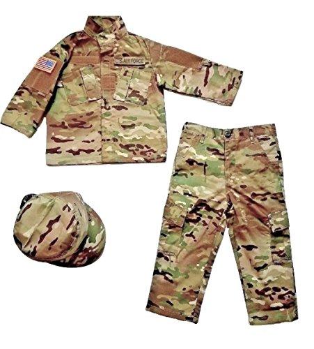 - Kids U.S. Air Force Multicam Camo Pattern 5pc Uniform Set (Medium)