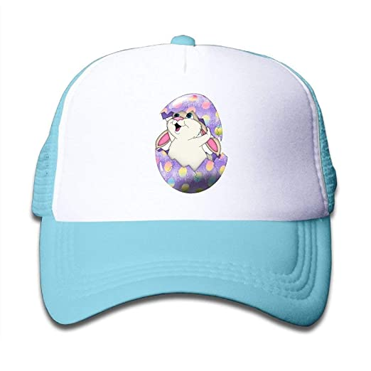 4bfb6c3a9bd Mesh Baseball Cap Snapback Hats Egg Hunt Rabbits Boys-Girl ...