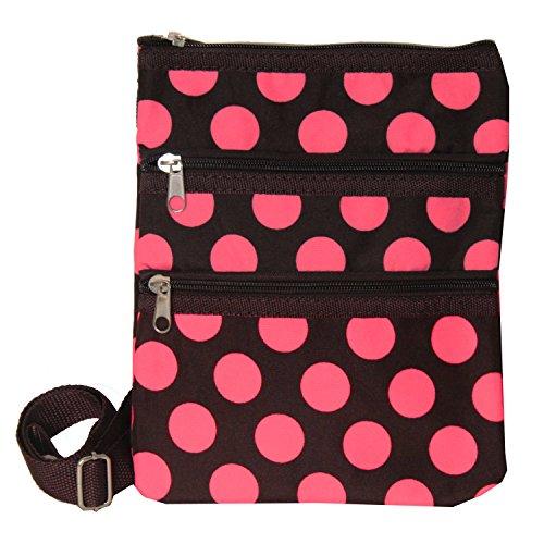 World Traveler Womens 9 Inch Swingpack Purse Bag, Brown P...