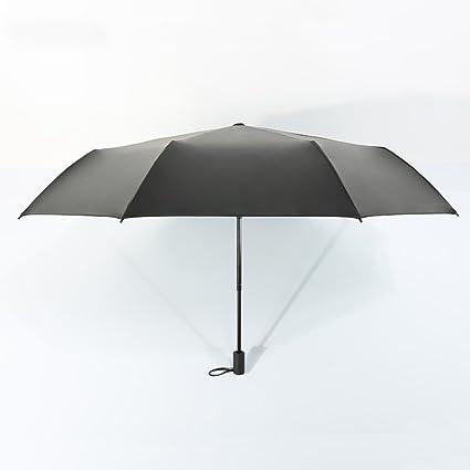 Aihifly Creative Fox patrón Verde sombrilla para Mujer portátil Paraguas Plegable para el Sol protección UV