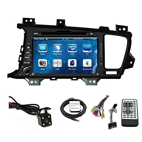 Car Stereo DVD Player for KIA Optima 2011 2012 2013 Double Din 8 Inch Touch Screen TFT LCD Monitor In-dash DVD Video Receiver Car GPS Navigation System with Built-In Bluetooth TV Radio