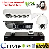 GW Security 32 Camera 5MP 1920P PoE IP CCTV Kit : (16) Bullet and (15) Dome 5MP1080P IP PoE 2.8-12mm Cameras + 1 x 1080P Auto Tracking IP PTZ 20 times Zoom + 1 x 32 Channel 5MP 1920P NVR + 2 x 4TB HDD