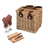 Picnic Time Vino Picnic Basket with Wine and Cheese