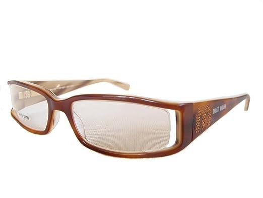 b43ec23dab Amazon.com  MIU MIU by Prada VMU 15E 705 1O1 Glasses Spectacles ...