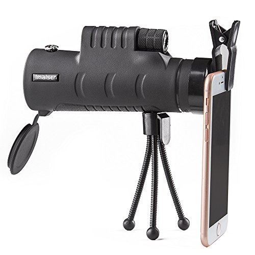ZISHINE 40x60 HD Mini Monocular Telescope With Tripod Cell P