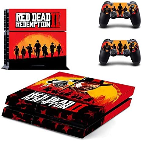Red Dead Redemption 2 PS4 Pegatina de piel delgada para Sony PlayStation 4 Consola y controlador para Dualshock 4 PS4 Etiqueta de piel pegatina: Amazon.es: Videojuegos