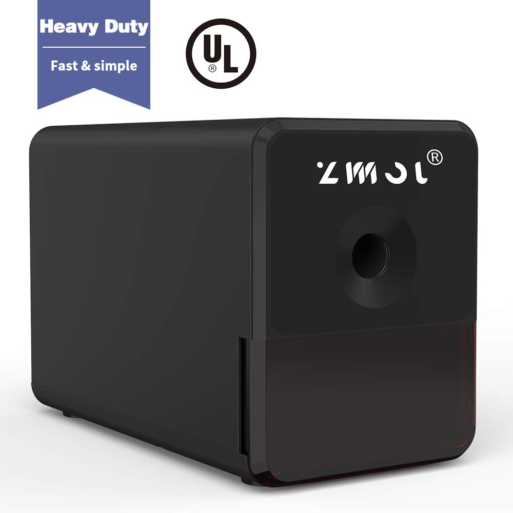 Electric Pencil Sharpener,Heavy Duty Helical Blade and Auto-Stop Feature,Indrustial Pencil Sharpener Plug in for Classroom,Super Fast,Suitable for NO. 2/Colored Pencils,Office,School by Zmol