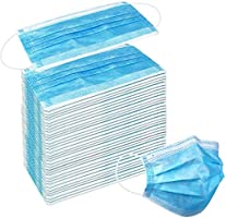 50 Pack Disposable Face Masks with Elastic Ear Loop