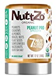 Nuttzo Organic Smooth Peanut Pro Seven Nut and Seed Butter, 12 oz