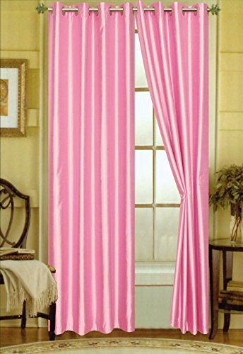 Editex Home Curtain Faux Silk Panel with Grommets, 108″, Fuchsia