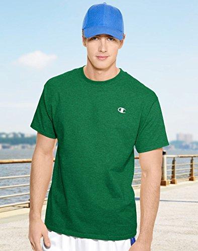 Champion Cotton Jersey Men's T Shirt - X-Large, Rainforest Heather (Hanes Champion compare prices)