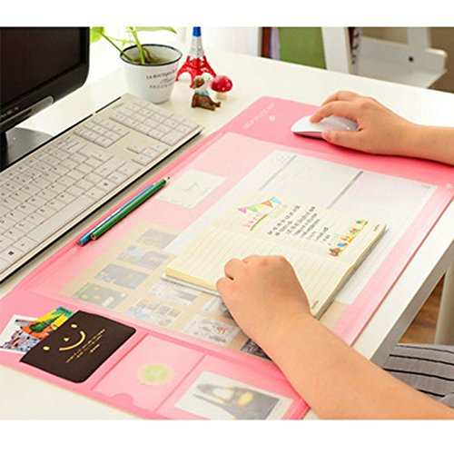 Autumn Water 4 Colors big capacity Korea Stationery Multi function Desk Pad Desk Organizer storage Set Protect Wrist Warmth Pad by Autumn Water