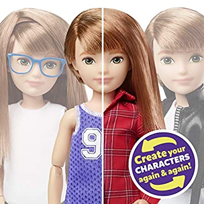 Creatable World Deluxe Character Kit Customizable Doll, Copper Straight Hair: Toys & Games