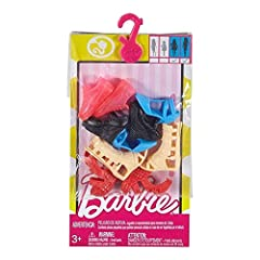 ​Barbie doll has the best shoe collection! She's always got the perfect pair of shoes to complete a great look and go on any adventure. With five pairs of fabulous shoes fitted to Tall and Curvy Barbie dolls in this accessory pack (doll sold ...