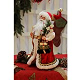 "16"" Inch Standing Naughty or Nice Name List Santa Claus Christmas Figurine Figure Decoration 41603"