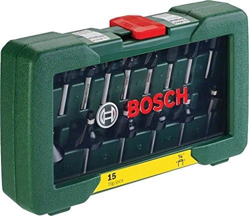 "-[ Bosch DIY 15tlg. Fräser-Set HM (1/4""-Schaft)  ]-"
