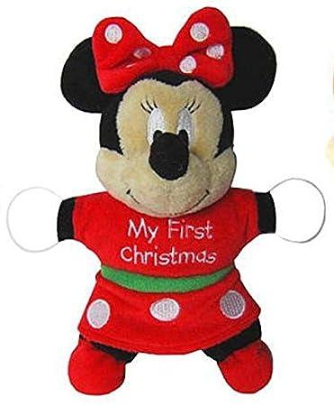 Christmas Minnie Mouse Plush.Amazon Com Kids Preferred My First Christmas Musical Minnie