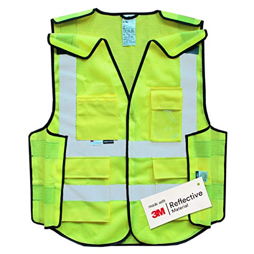 Salzmann 3M Multi Pocket 5-Point Breakaway Safety Vest, Highly Breathable Mesh Vest, 2XL/3XL+