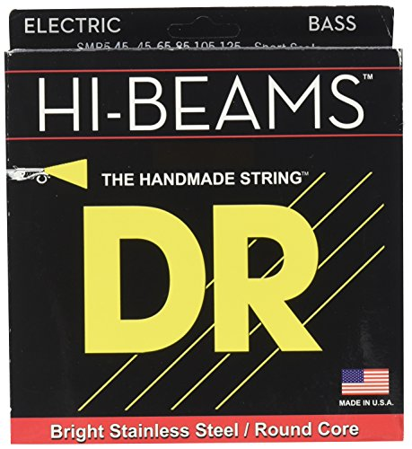 Short Scale 5 String Bass - DR Strings HI BEAMS SHORT SCALE 5 STRING BASS MEDIUM (45-125)