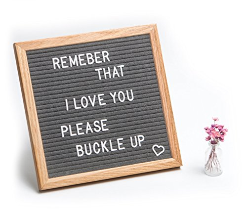 - Felt Letter Board 10x10 inch - Message Board with 290 Changeable Felt Plastic Letters Numbers and Symbols - Wall Mount Hanger and Stand