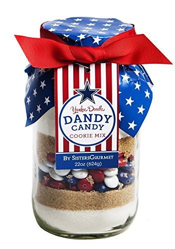 Sisters' Gourmet Yankee Doodle Dandy Cookie Mix, 22 Ounce (Jar 22 Ounce Holiday)