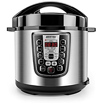 BESTEK Electric Pressure Cooker, 6.3 Quart 11-in-1 Programmable Multi-Use Stainless Steel