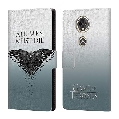 (Official HBO Game of Thrones All Men Key Art Leather Book Wallet Case Cover for Motorola Moto E5)