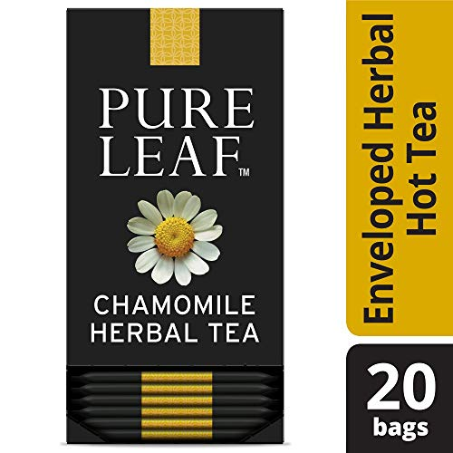 - Pure Leaf Chamomile Enveloped Hot Tea Bags Herbal Caffeine Free, 20 count, Pack of 6