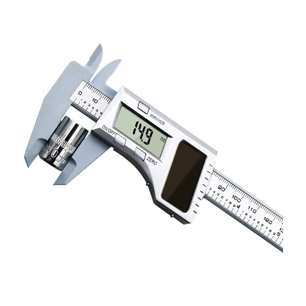 Tragbare 6 Zoll 150mm Kunststoff Lineal Schmuck Schiebelehre Vernier Caliper NQ