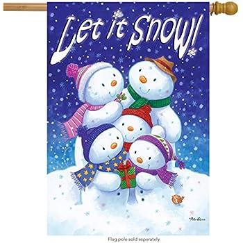 "Squirrel Nap Snowman Winter House Flag Snow Bird Welcome Banner 28/"" x 40/"""