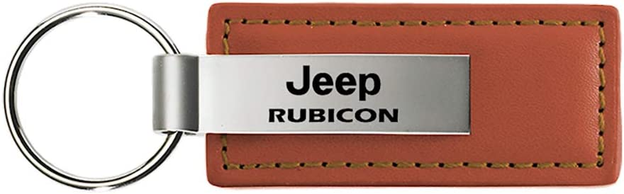 Jeep Rubicon Brown Leather Key