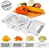 french fry cutter nsf - Home Intuition Mandoline Slicer Japanese Adjustable 5 Blade, White