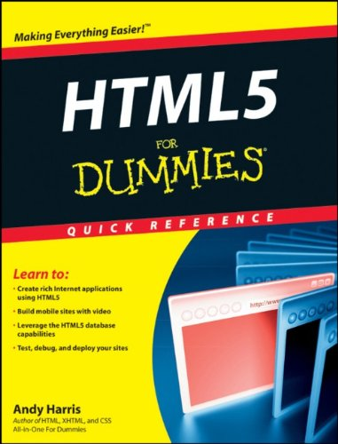 HTML5 For Dummies Quick Reference by Andy Harris, Publisher : For Dummies